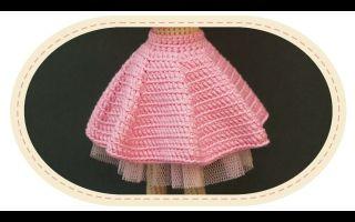 Юбка для куклы крючком: пышная юбка для куклы барби и беби бон своими руками