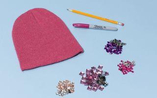 Как украсить шапку стразами своими руками (фото): идеи для декора