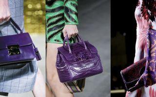 C чем носить фиолетовую сумку: модные сочетания с оттенком баклажана