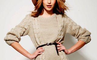 Модные модели вязанных платьев спицами. особенности фасонов, тонкости вязки и декорирования.