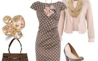 С чем носить платье в горошек: фото, варианты и правила подбора сочетаний