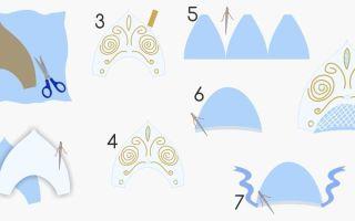 Кокошник для куклы своими руками: как сделать кокошник для снегурочки, идеи и выкройки