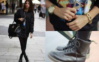 С чем носить чёрные женские ботинки: лучшие сочетания чёрных ботинок
