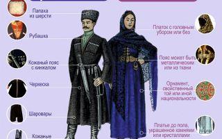 Национальный костюм лезгинов: фото, описание и история