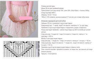 Ажурная юбка спицами для девочки: схемы и описание