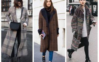 С чем носить пальто в клетку осенью (фото): клетчатый принт по типу фигуры, стилю, цвету; советы и рекомендации