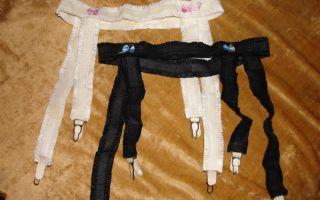 Как из капроновых колготок сделать чулки своими руками: пошагово делаем чулки и пояс для чулок