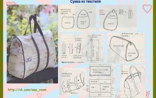 Текстильные сумки своими руками: выкройки, мастер-класс