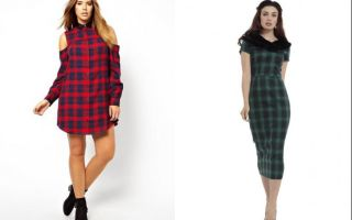 Актуальные платья в клетку 2018: платья в клетку для разных типов фигур