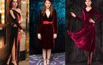 С чем носить бархатное платье: по длине, фасону и модным тенденциям