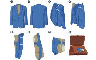 Как сложить рубашку, пиджак, костюм в чемодан: как правильно сложить деловой костюм в поездку