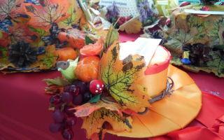 Как украсить шляпу на праздник осени: варианты украшения шляпы на осенний бал