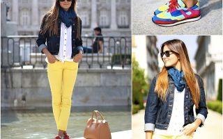 С чем носить желтые брюки женщинам? выбор обуви и фасона. топ 6 лучших идей