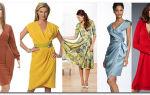 Как выбрать фасон платья для женщины 60 лет на разную фигуру