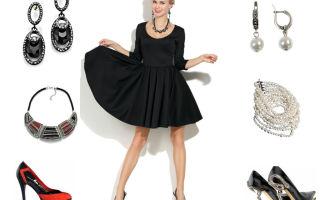 Бижутерия и украшения к чёрному платью. правила сочетания. примеры комбинирования с разными фасонами чёрного платья.
