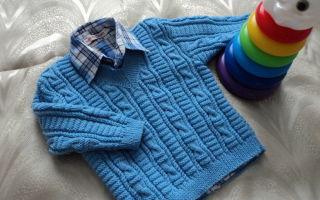 Вязание детского пуловера для мальчика спицами: на 2-3 года, 6-7, 8-9, 10-11 лет