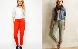 C чем носить брюки джоггеры: женские и мужские, сочетания стилей, советы