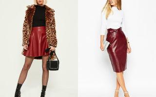 С чем сочетается бордовая юбка карандаш из кожи, твида, кружева и других тканей? подбираем обувь и аксессуары к образу.