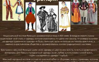 Национальный костюм французов: название, фото, описание и особенности