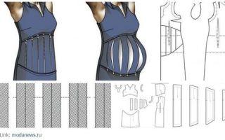 Выкройка платья для беременных: как сделать выкройку и сшить по ней платье для беременной