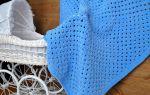 Плед из плюшевой пряжи крючком: детский, для новорожденного
