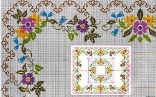 Вышивка скатерти крестом: схемы, фото, советы
