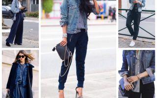 С чем носить длинную джинсовую куртку? модные варианты комбинирования. кому можно, кому нельзя?