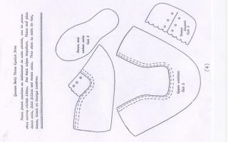 Ботинки для куклы: выкройка, советы по шитью ботинок для интерьерной куклы своими руками