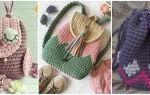 Детский рюкзак крючком: весёлый рюкзак из ленточной пряжи