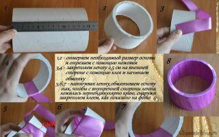 Шкатулки из атласных лент своими руками, инструкция