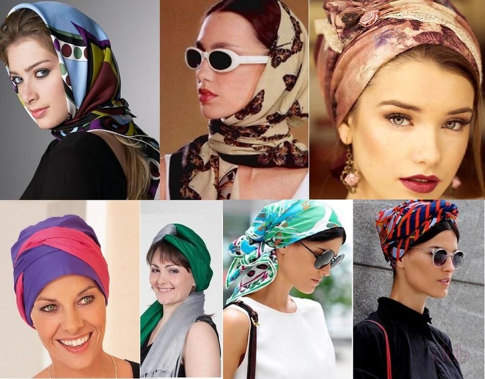 варианты повязать платок на голову