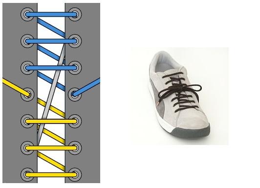 Шнуровка кроссовок с 4, 5, 6, 7 дырками. оригинальные способы зашнуровывания. шнуровка кроссовок найк и без завязывания.