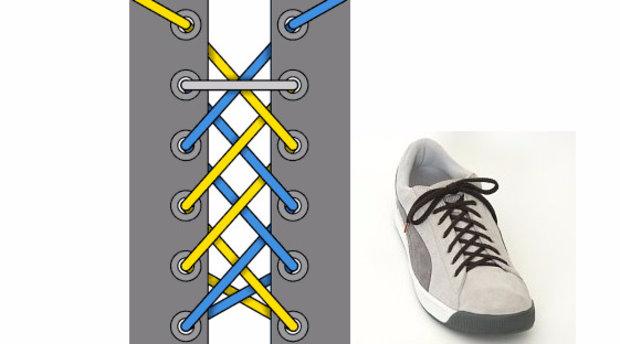 как завязать шнурки на штанах бантиком