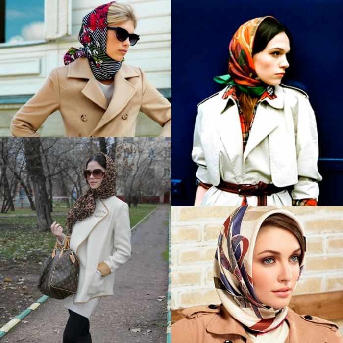 как завязать платок на голове с шубой