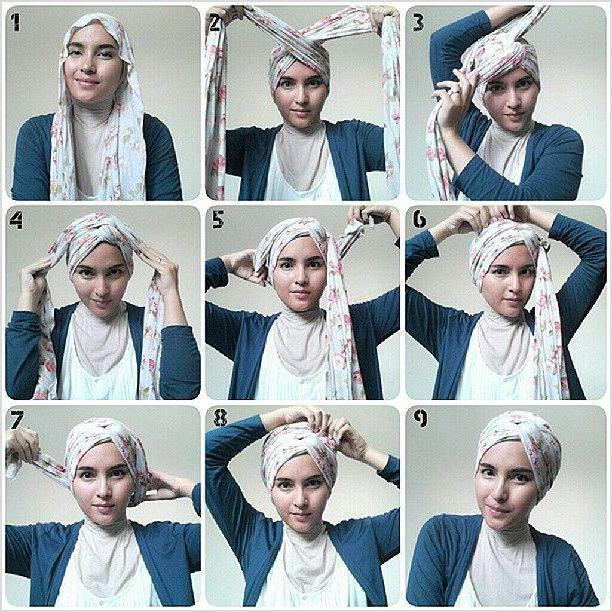 как платок завязать на голове по мусульмански