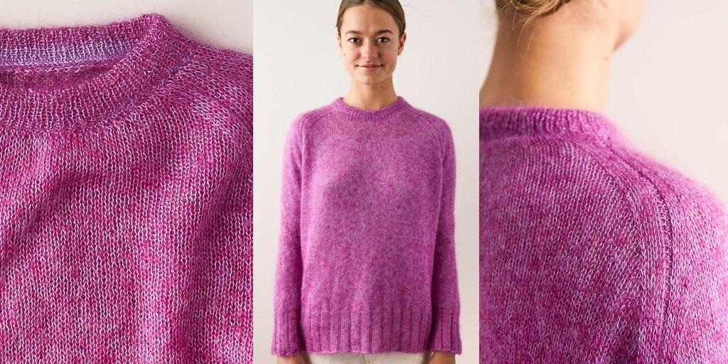 свитер из мохера спицами схемы и описание