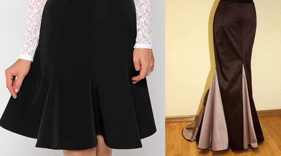 выкройка юбки годе 52