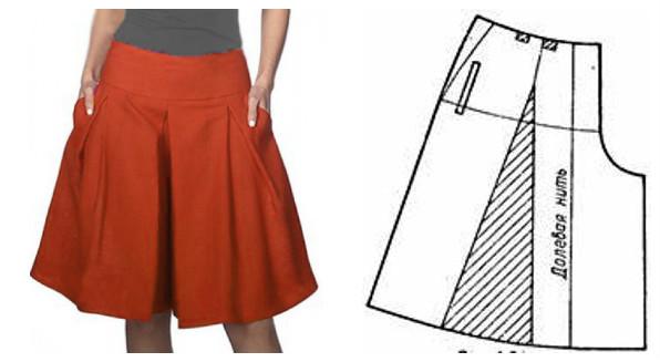 выкройки юбок для девочек бесплатно